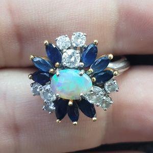 Vintage Circa 1950s 18kt Gold ,Diamonds,Sapphires